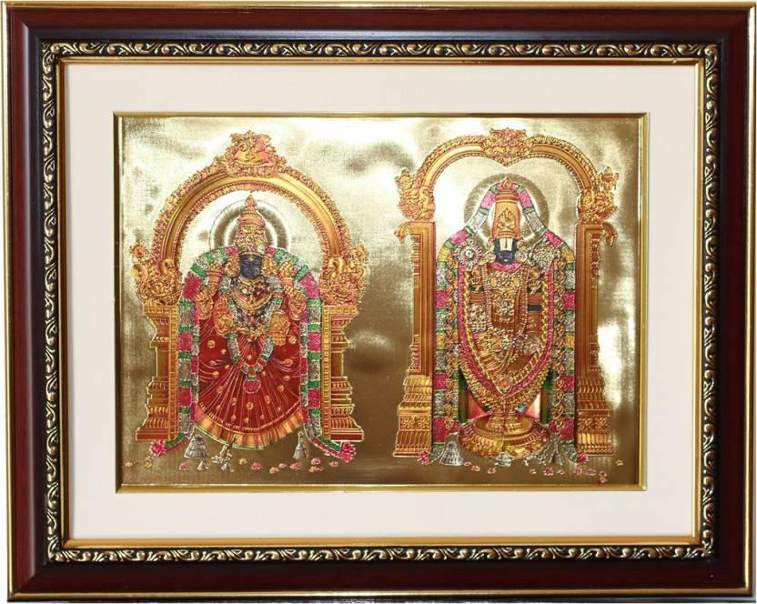 c846b1c47799 GoldArt GoldFoil Photo Frame Size 4 Lord Srinivasa   Padmavati (Wooden  Framed) Religious Frame Price in India - Buy GoldArt GoldFoil Photo Frame  Size 4 Lord ...