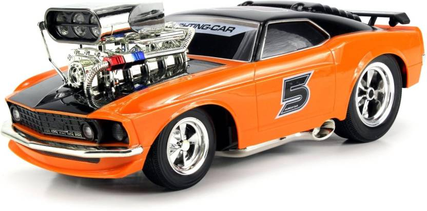 Webby Super 5 Ford Mustang Boss 429 Remote Control RC Muscle Car 1:16 Scale  with Working Head & Tail Lights