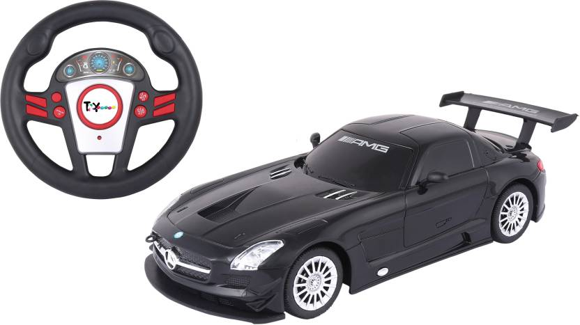 Toy House Officially Licensed 1 24 Mercedes Sls Amg Gt3 With Small Steering Rc Car Black