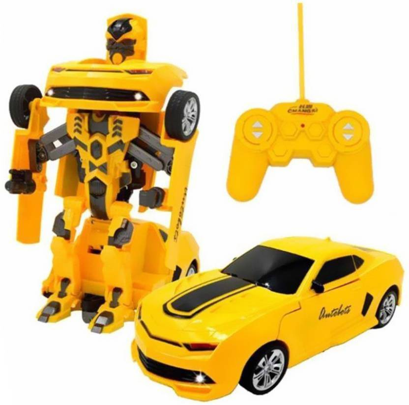 Ar Enterprises Rechargeable Rc Bumble Bee Transformer Robot Toy For