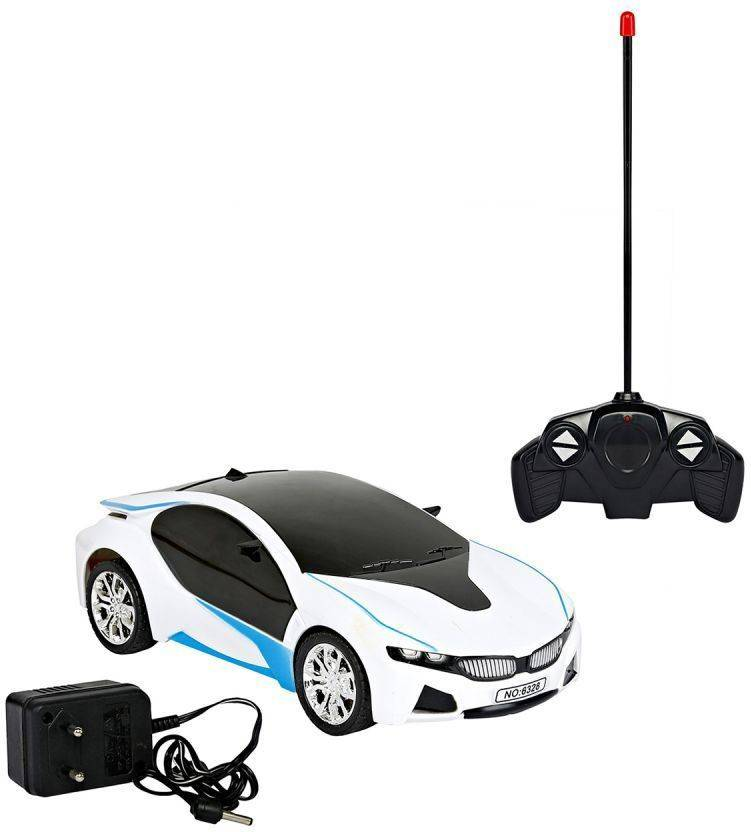 Jasan Rechargeable Rc Bmw Scale Remote Controlled Car With Light White
