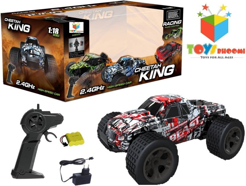 355f58b878584 Toys Bhoomi CHEETAH KING 2.4GHz 1 18 EXTREME POWER High Speed RC Beast  Slayer Drift Car with Pistol grip remote controller (Red)