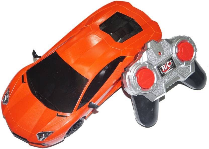 Adraxx Remote Control Sports Car Model With Headlights Remote