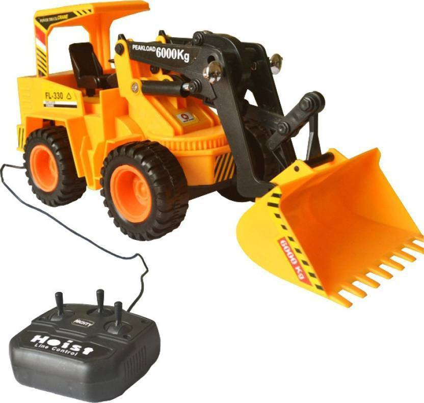 9 Perfect Wired Remote Control Battery Operated JCB Crane Truck Toy Yellow  9 Perfect Remote Control Toys