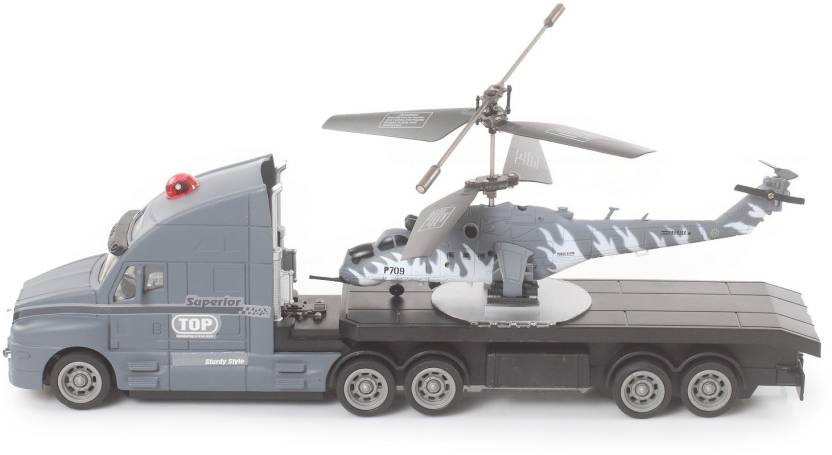 The Flyer's Bay Combo of Helicopter & Truck(Grey)