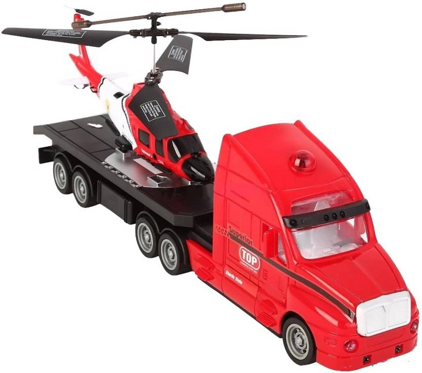 The Flyer's Bay Combo of Helicopter & Truck