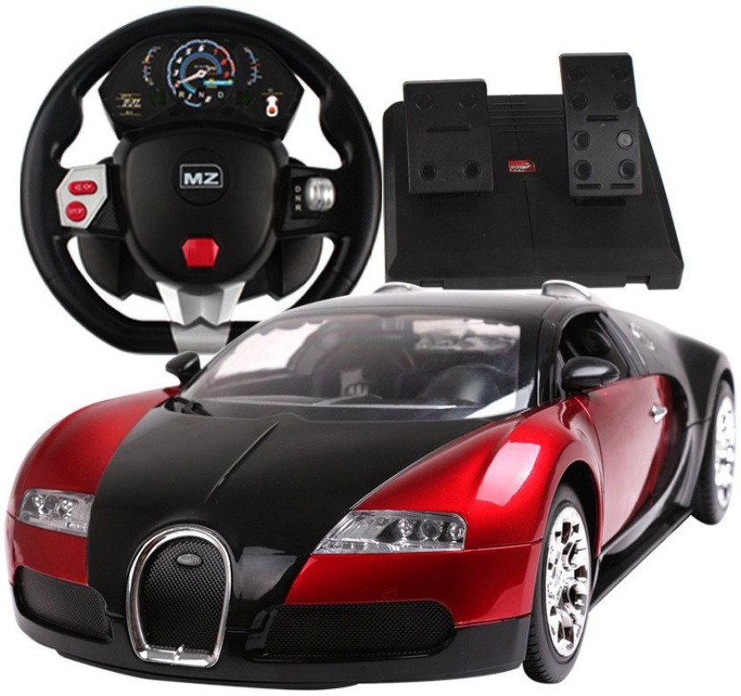 Gifts U0026 Arts Bugatti Veyron 16.4 Pedal + Steering Control With Door Opening  Function Grand Sport R/C Car (Red)