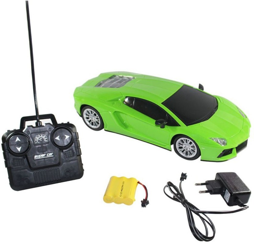 Scrazy Remote Control Rechargeable 1:16 Lamborghini Green Car
