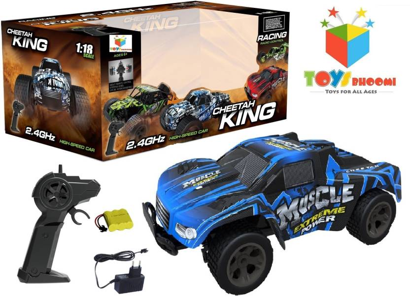 Toys Bhoomi CHEETAH KING 2 4GHz 1:18 EXTREME POWER High Speed RC Muscle  Drift Car with Pistol grip remote