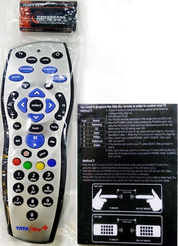 tata sky original hd universal with user manual remote controller rh flipkart com tata sky plus hd user guide tata sky hd box user manual