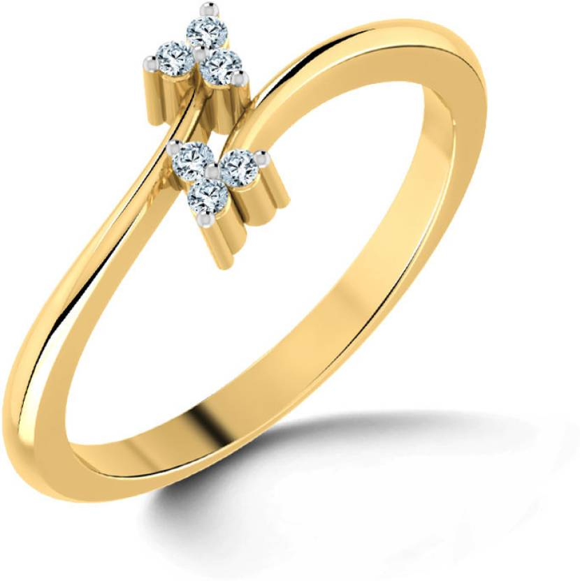 900262befa390 Caratlane Sunshine Gold Diamond, Sapphire Ring Price in India - Buy ...