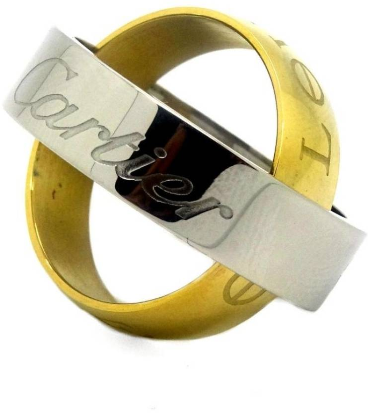 London Jewels Cartier Stainless Steel 18K Yellow Gold Silver