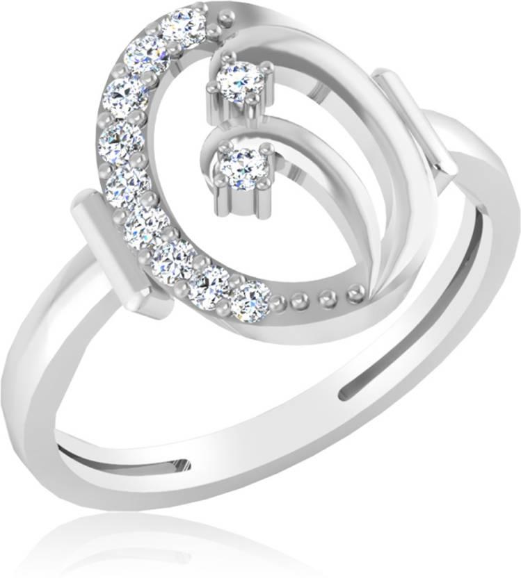 IskiUski Zivame Sterling Silver Platinum Ring