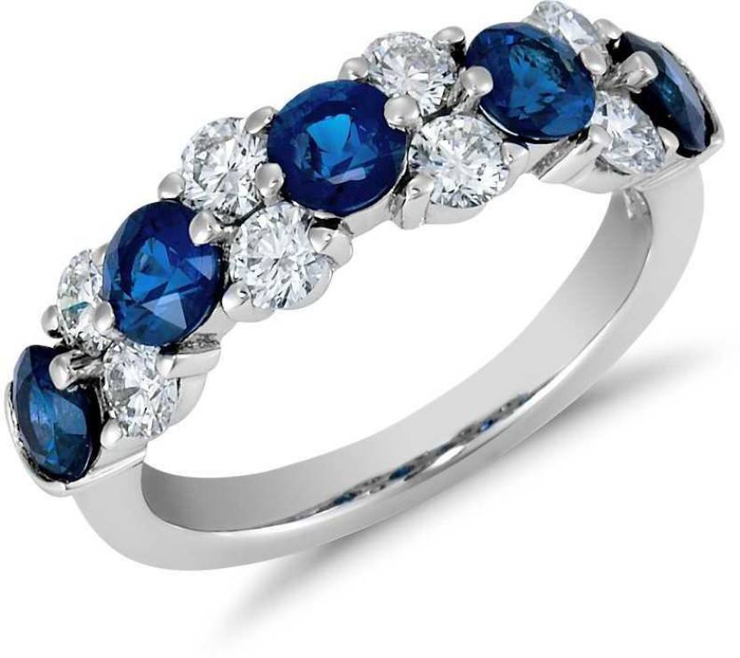 Zevrr Silver Swarovski Crystal Platinum Ring