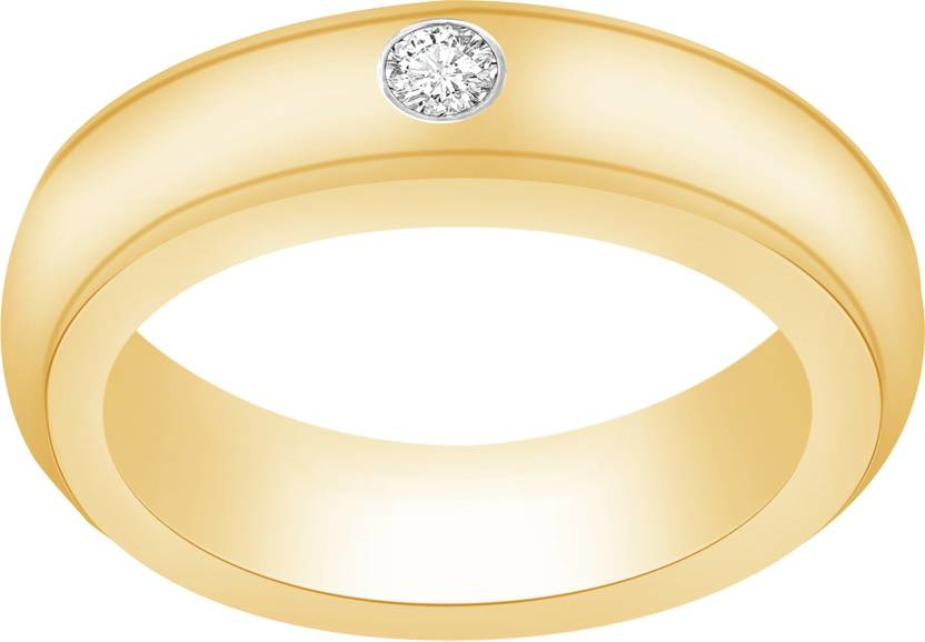 Ciemme 0.18 CT Men's Wedding Sterling Silver Cubic Zirconia 18K Yellow Gold Plated Ring