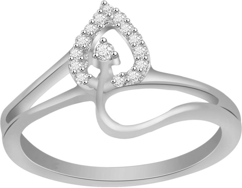 8b56bb3bf Ciemme Valentine Day Collection 0.14 CT. Promise Heart Split Shank Sterling  Silver Cubic Zirconia Gold
