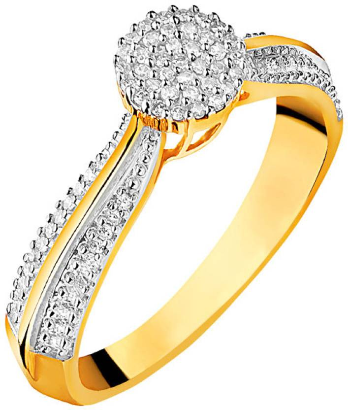 Suvam Jewels Silver Yellow Gold Plated Ring