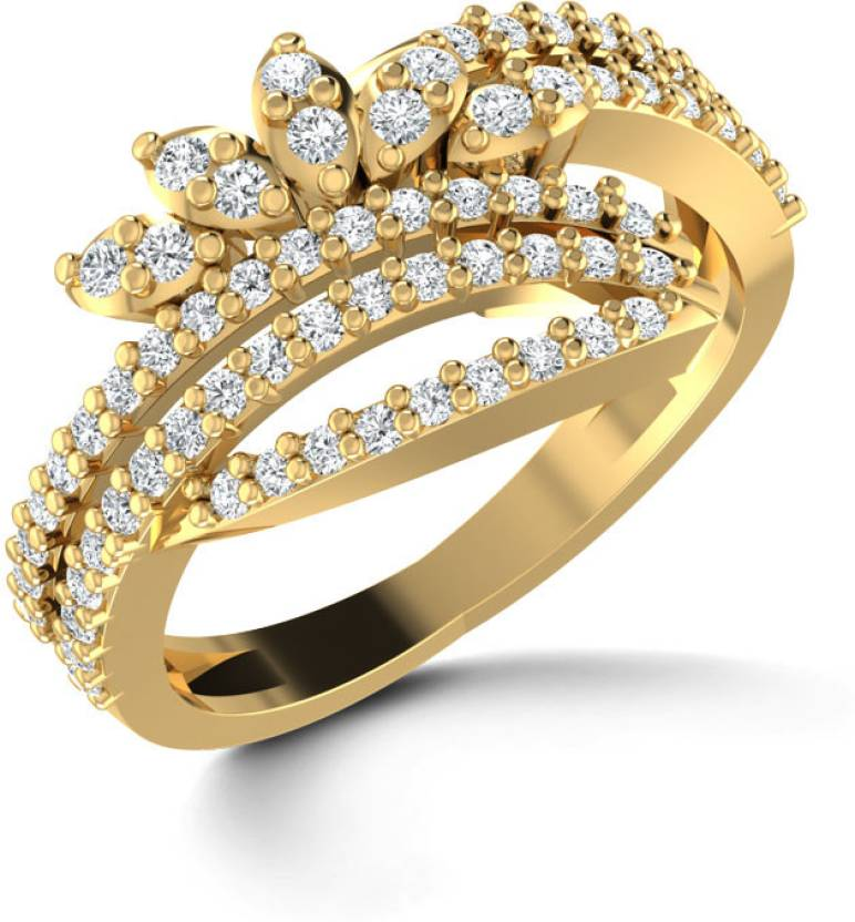 156df485e64d7 Caratlane Astral Crown 18kt Diamond Yellow Gold ring Price in India ...