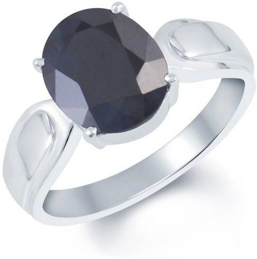 G-Luck Neelam Stone Weight- 5.4 Carat / 6.35 Ratti Silver Sapphire Ring
