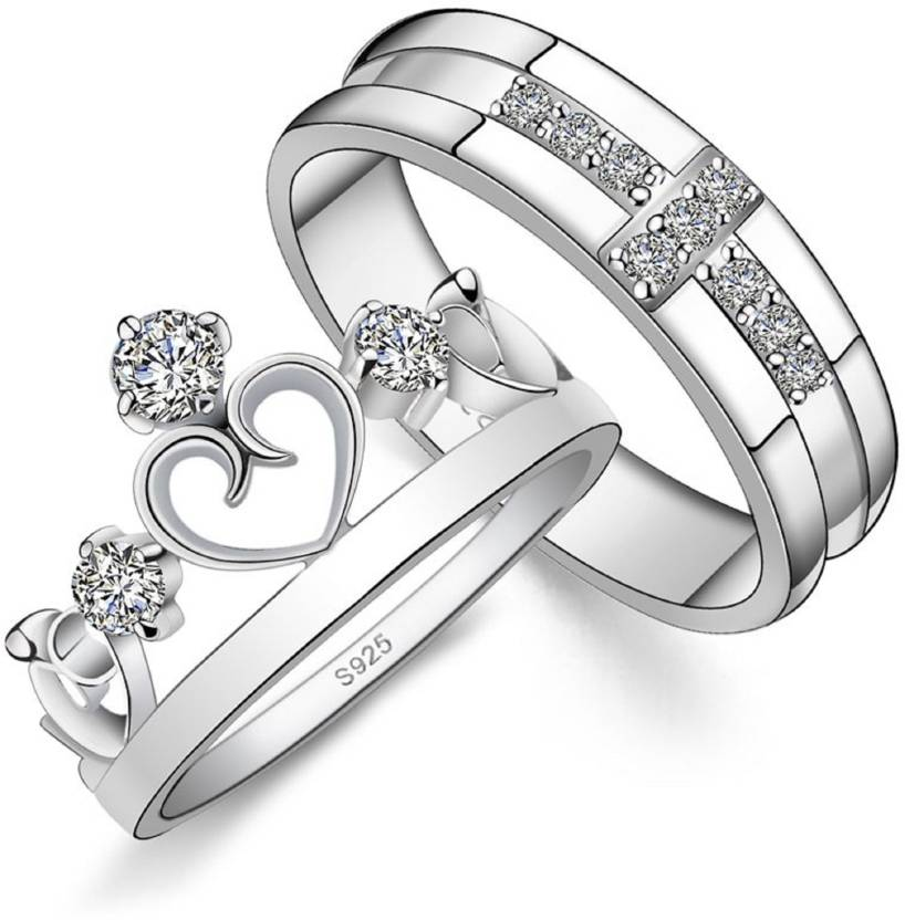 Swarovski Zirconia Platinum Ring Set