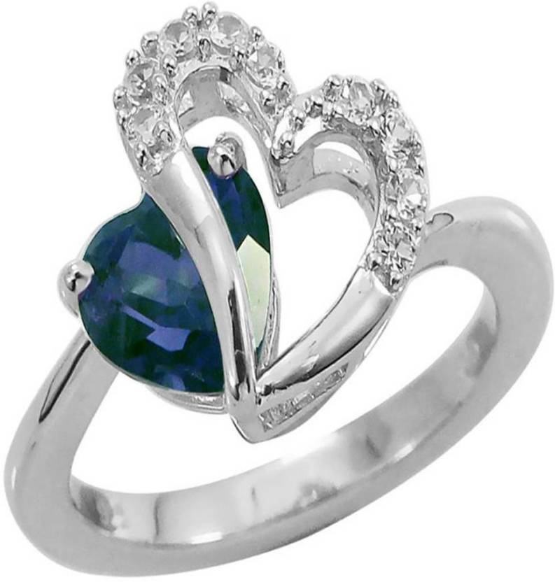 3d43b1719 Kiara Jewellery Sterling Silver Swarovski Zirconia Ring Price in India - Buy  Kiara Jewellery Sterling Silver Swarovski Zirconia Ring Online at Best  Prices ...