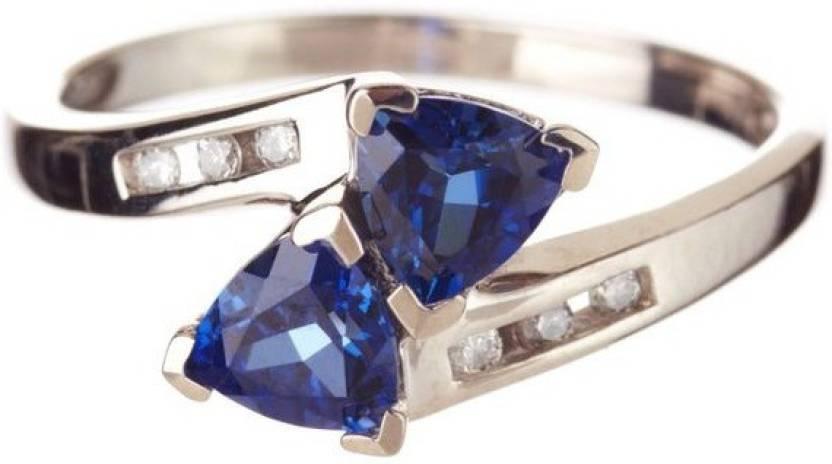 Alluring Silver Swarovski Zirconia Rhodium Plated Ring