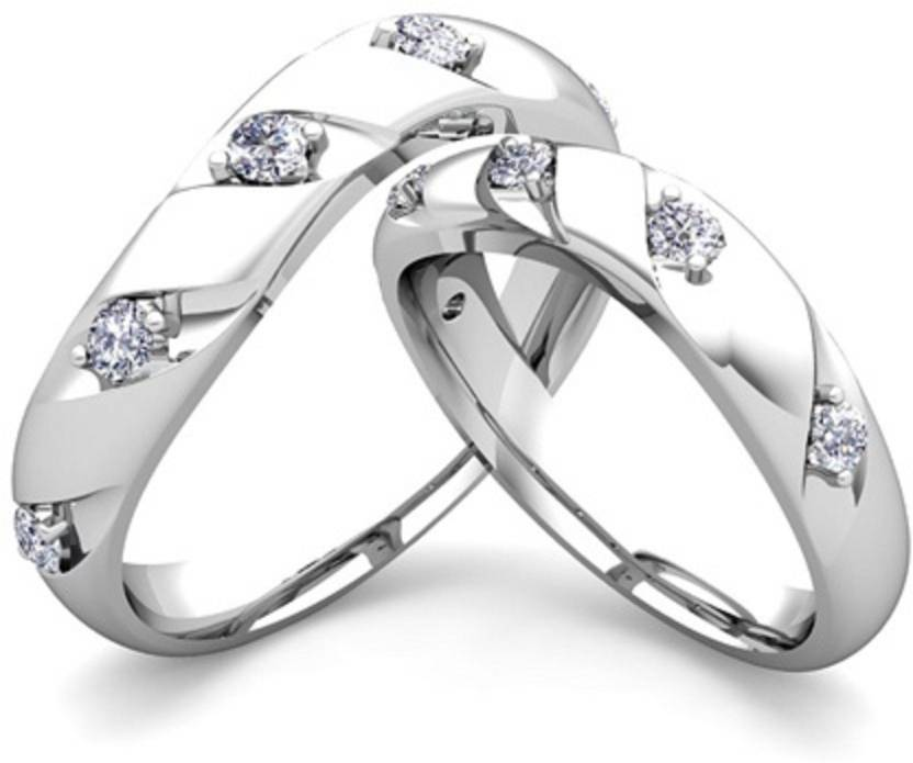 854cccec2 Silvosky Couple Band Silver Swarovski Zirconia Platinum Plated Ring Set  Price in India - Buy Silvosky Couple Band Silver Swarovski Zirconia  Platinum Plated ...