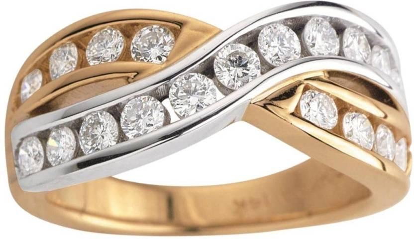 Kiara Jewellery Sterling Silver Cubic Zirconia Rhodium Ring