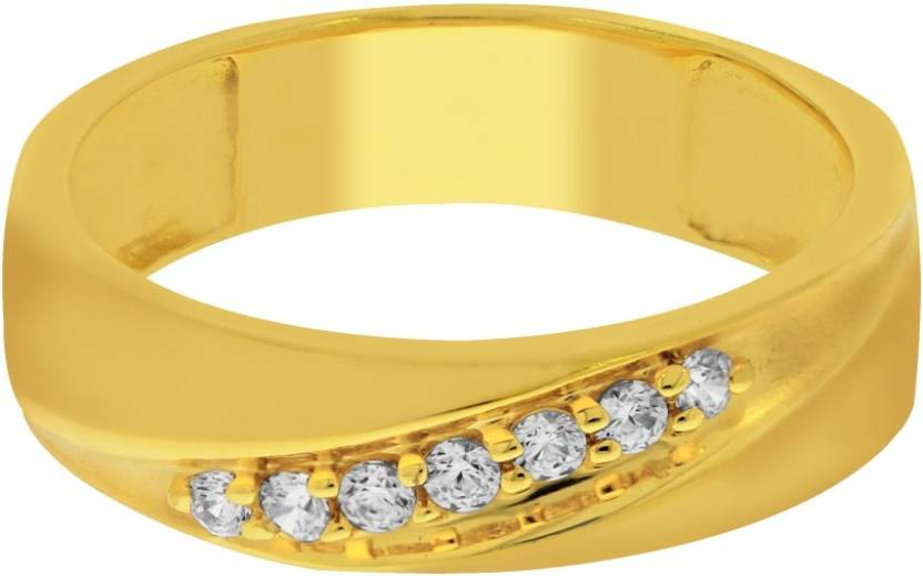 Kalyan Jewellers Couple Ring 22kt Cubic Zirconia Yellow Gold ring