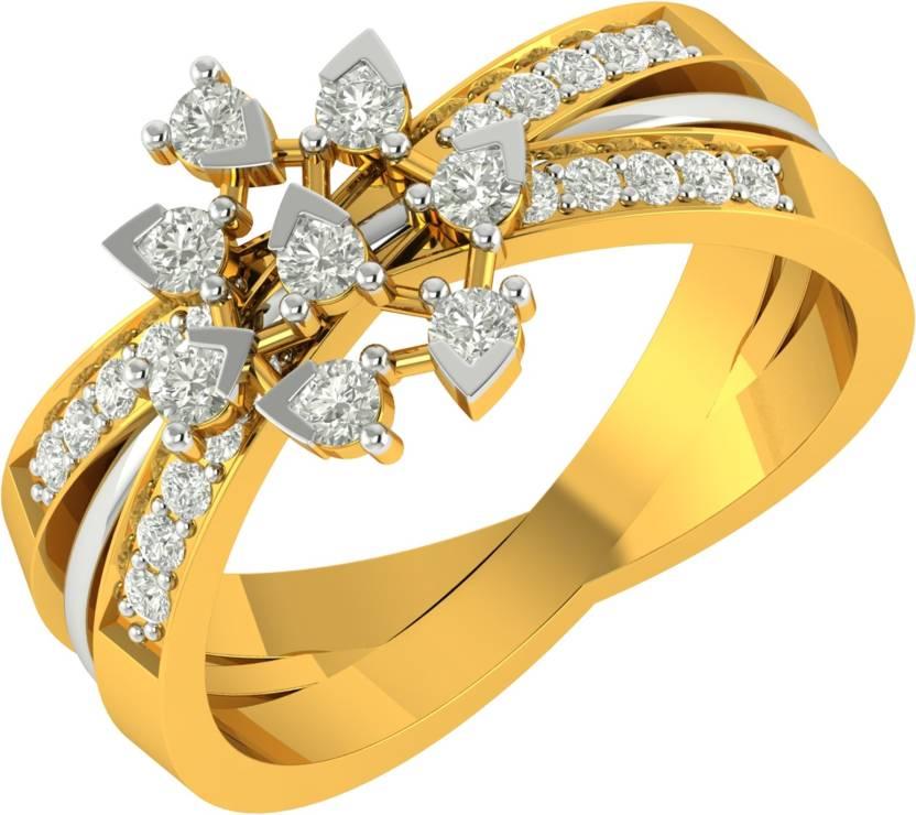 c2adcd9bb Charu Jewels 18kt Diamond Yellow Gold ring Price in India - Buy Charu  Jewels 18kt Diamond Yellow Gold ring online at Flipkart.com