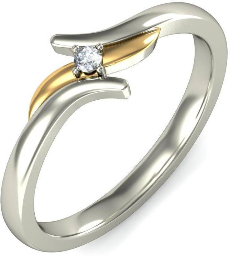 BlueStone The Tenera 14kt Diamond White Gold ring Price in India