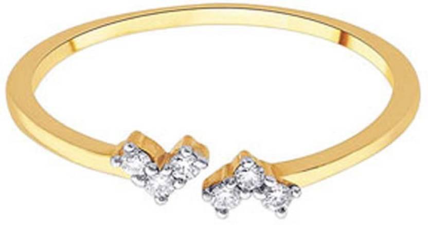 D'damas 18kt Diamond Yellow Gold ring Price in India - Buy D