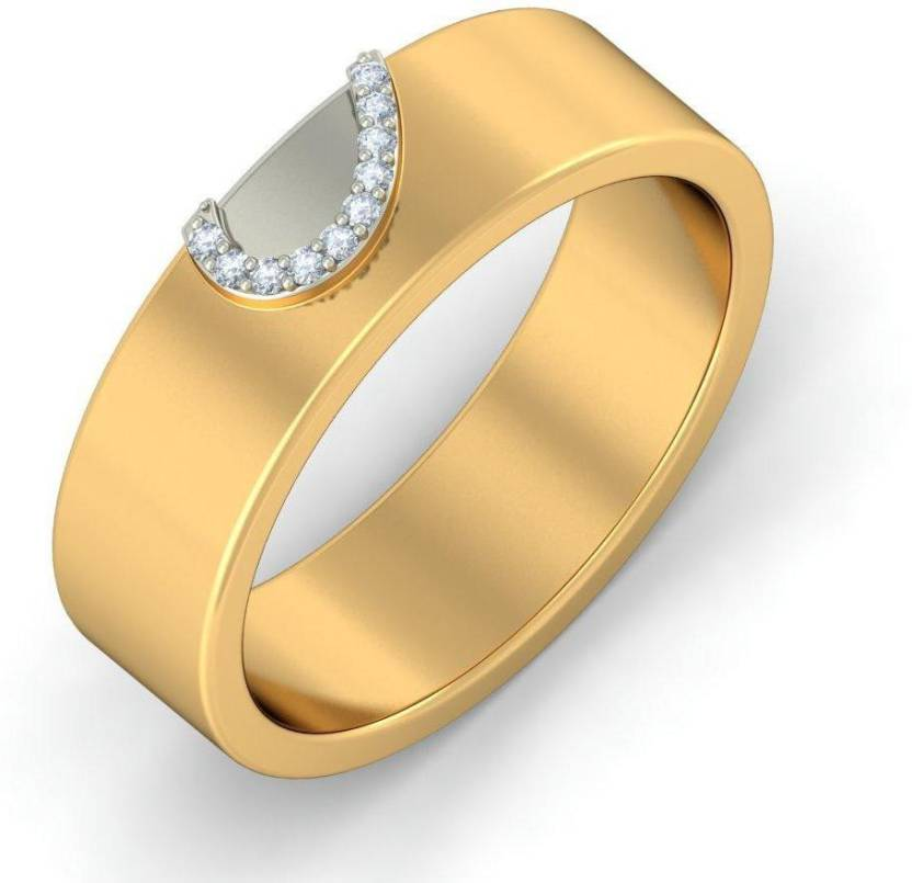 96fd3d4a79 BlueStone The Profound Love Band for Him 14kt Diamond Yellow Gold ring  Price in India - Buy BlueStone The Profound Love Band for Him 14kt Diamond  Yellow ...