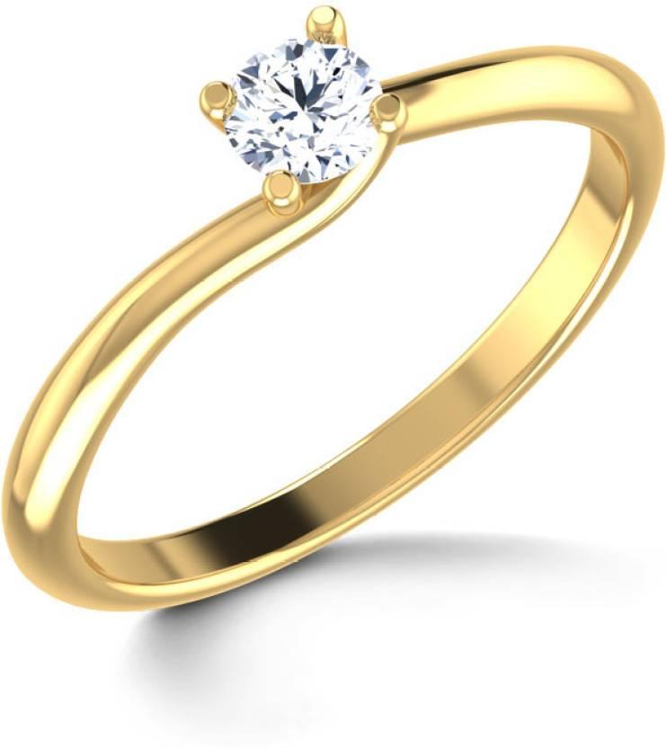 15bd53b7b3528 Caratlane Gold Diamond Ring Price in India - Buy Caratlane Gold ...