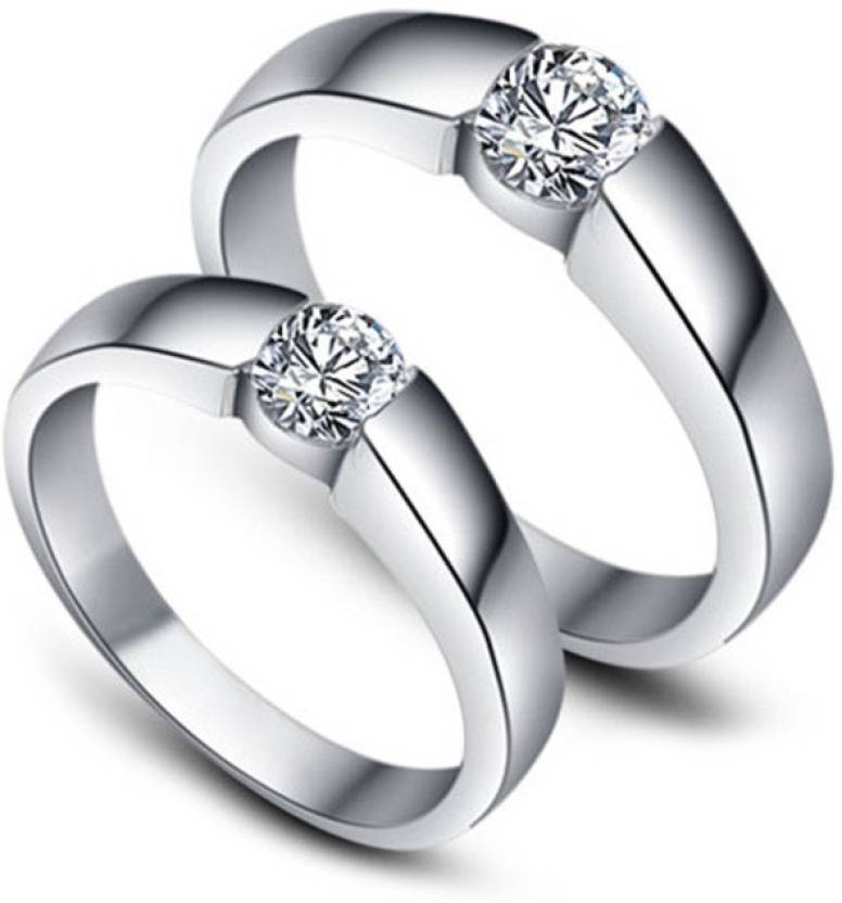 2be780081 Zevrr Remarkable Sterling Silver Swarovski Zirconia Platinum Plated Ring  Set Price in India - Buy Zevrr Remarkable Sterling Silver Swarovski  Zirconia ...