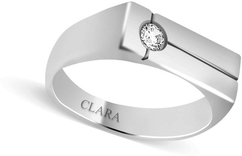 d661232d3 Clara Sterling Silver Swarovski Crystal Rhodium Plated Ring Price in India  - Buy Clara Sterling Silver Swarovski Crystal Rhodium Plated Ring Online at  Best ...