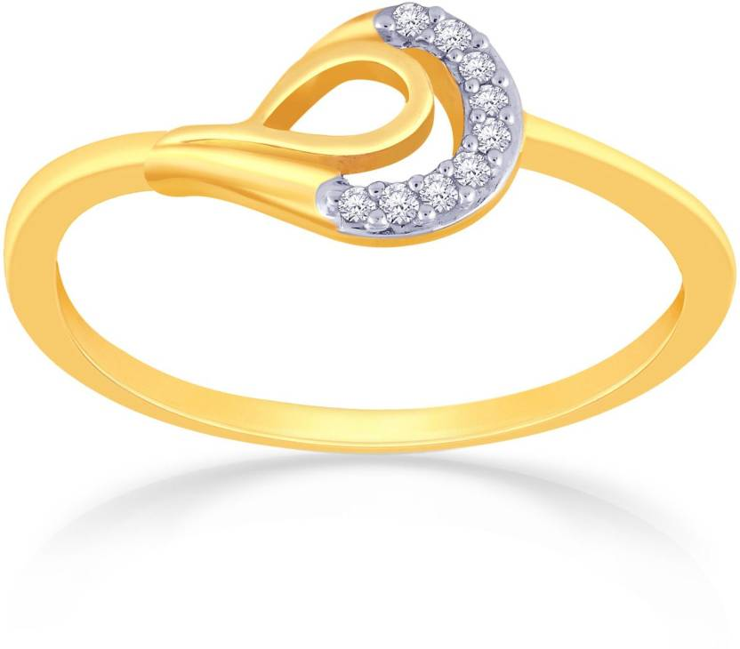 Malabar Gold and Diamonds R A 18kt Diamond Yellow Gold ring