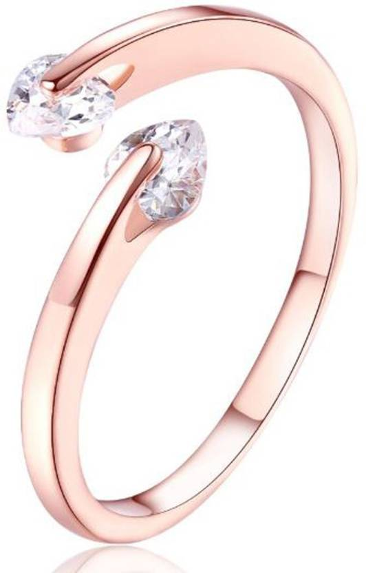Karatcart Alloy 22K Rose Gold Plated Ring Price in India Buy