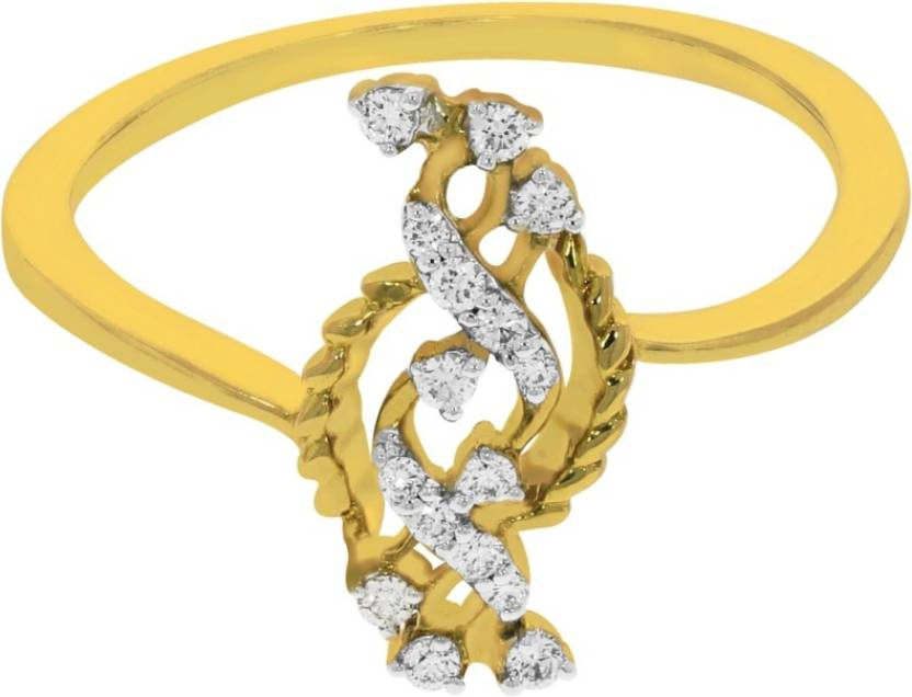 Kalyan Jewellers Light weight Fancy 18kt Diamond Yellow Gold ring ...