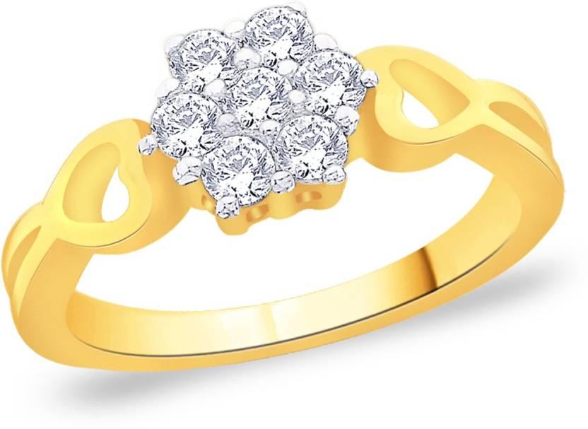 Voylla Sterling Silver Swarovski Crystal Ring