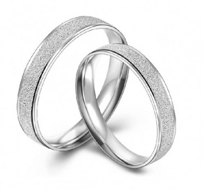 Aaishwarya Forever Love Alloy 18k White Gold Plated Ring Set