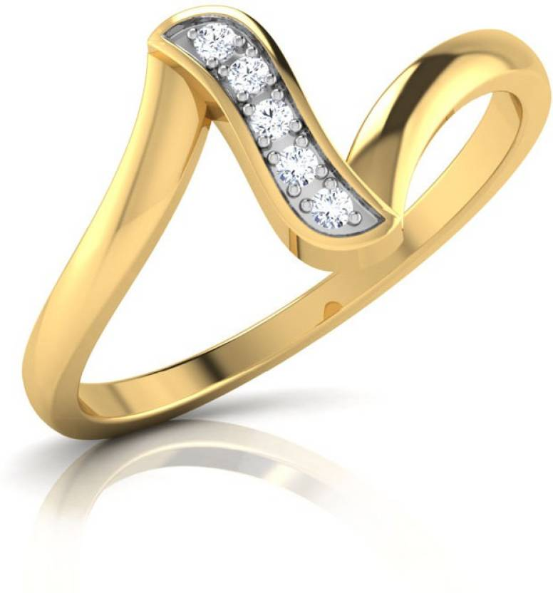 48baf142df944 Caratlane Diana 18kt Diamond Yellow Gold ring Price in India - Buy ...