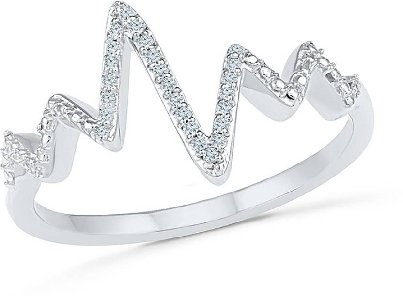 Radiant Bay The Heartbeat White Gold Diamond Ring