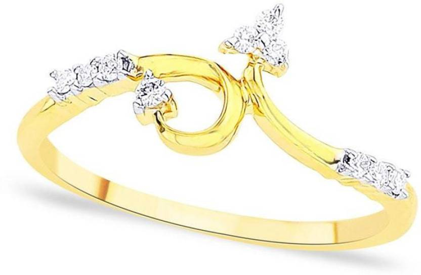 D'Damas Gold Diamond Gold-plated Plated Ring Price in India