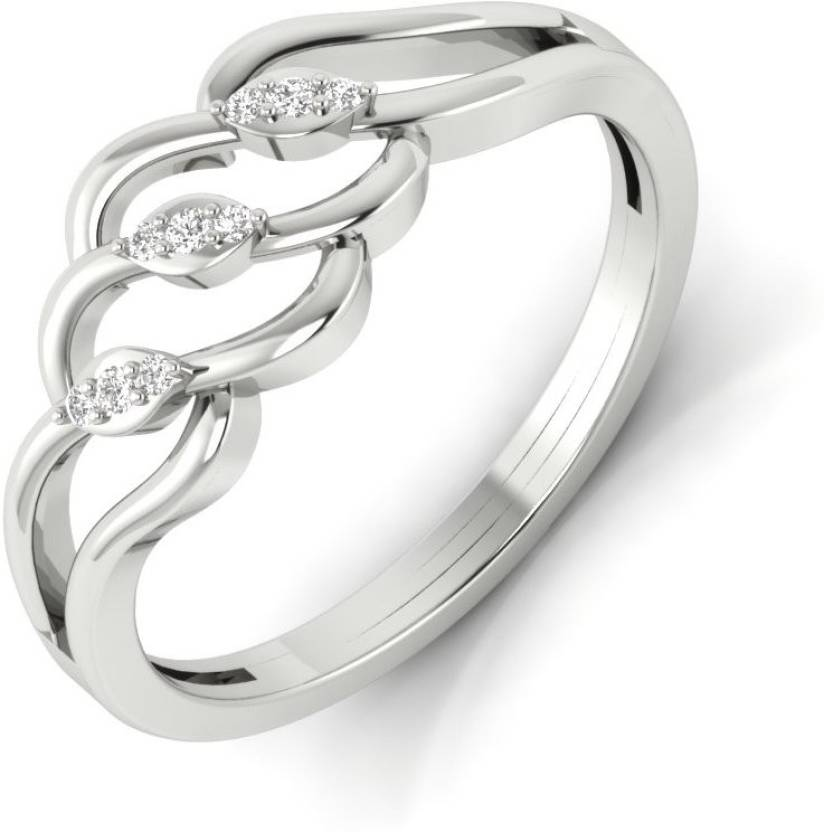 Vizyra Bewitching Silver Swarovski Zirconia, Swarovski Crystal Platinum Plated Ring