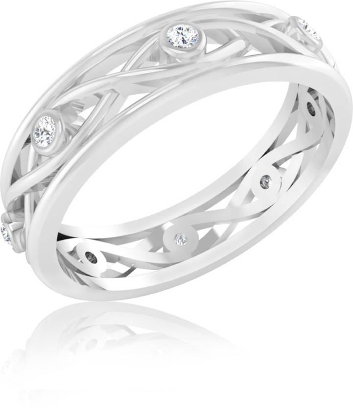 Iskiuski Birthday Gift 14kt Diamond Yellow Gold Ring Price In India