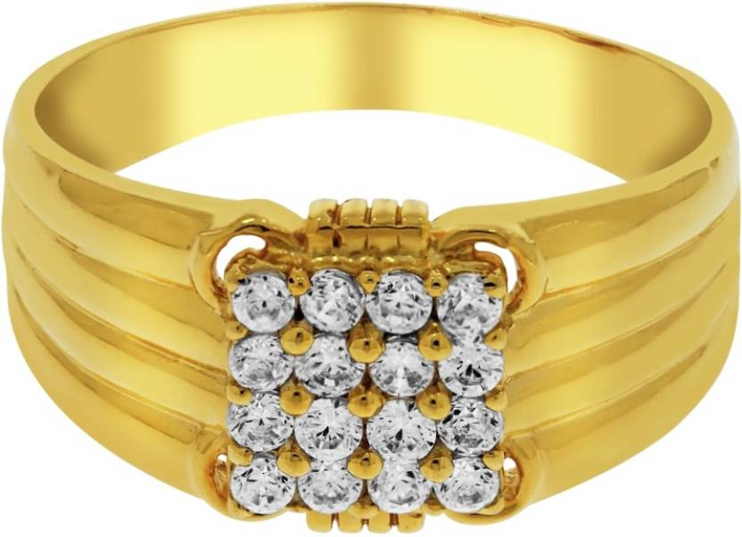 Kalyan Jewellers Siginity Gents 22kt Cubic Zirconia Yellow Gold ...