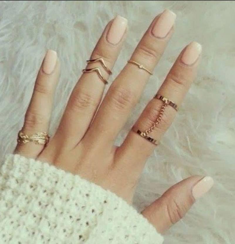 Big Pout Joint Rings Punk Midi Ring Set Alloy Ring Set Price