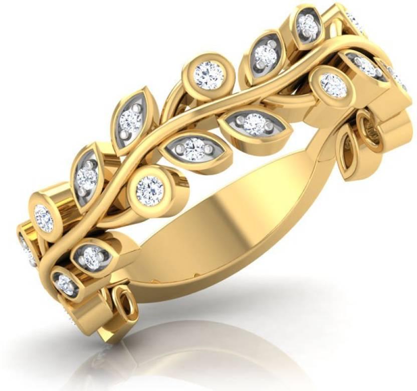 eafb7eb3d4e70 Caratlane Creeper Band 18kt Diamond Yellow Gold ring Price in India ...