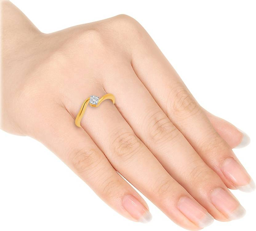 Chintamanis Simple Gold Diamond Gold Plated Plated Ring Price In